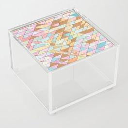 Triangle Pattern No. 25 Gold Pink Turqouise Acrylic Box