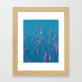 Neon Waterfalls Framed Art Print