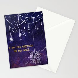 I Am the Captain of My Soul Stationery Cards