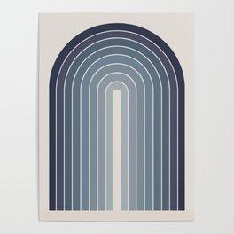 Gradient Arch - Blue Tones Poster