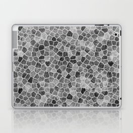The Paths Taken Black and White Cobblestone Pattern Laptop & iPad Skin