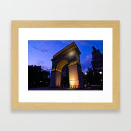 Washington Square Arch Framed Art Print