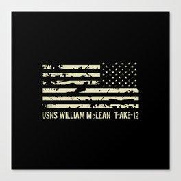 USNS William McLean Canvas Print