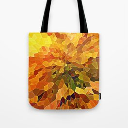 Stained glass Tiffany style print in orange tones Tote Bag