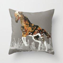 Ice Horse Throw Pillow