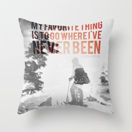 go new Throw Pillow