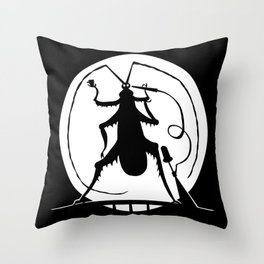 Party in the full moon Throw Pillow