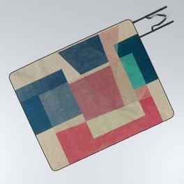 Geometric Burlap Picnic Blanket
