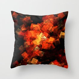 square fantasy embers Throw Pillow