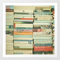 wallpaper Art Prints featuring Bookworm by Cassia Beck