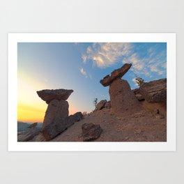 Balancing Rocks Art Print