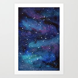 Galaxy Space Painting Stars Cosmic Universe Nebula Art Art Print