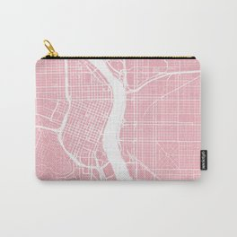 Pink City Map of Portland, Oregon Carry-All Pouch