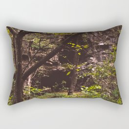 The Forest and Caves Rectangular Pillow