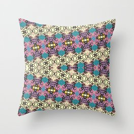 CVF0066 Swirls and Flowers Throw Pillow