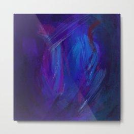 Linea blu - E' notte Metal Print