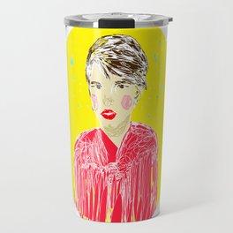 Girl in red Travel Mug