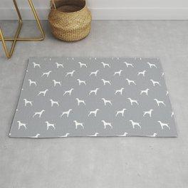 Vizsla minimal basic grey and white dog pattern dog art pet portraits dog breeds Rug