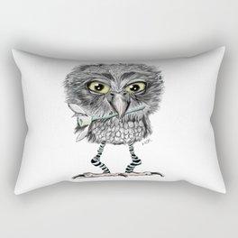 Owl with snowdrop Rectangular Pillow