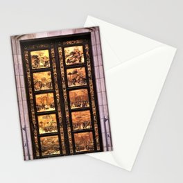 Antique Gold Mural Laden Doorway Photograph Stationery Cards