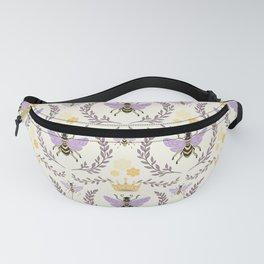 Queen Bee - Lavander Purple and Yellow Fanny Pack