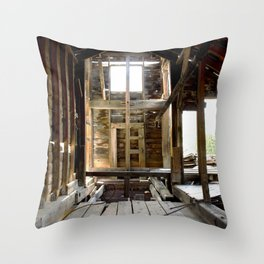 Exploring the Longfellow Mine of the Gold Rush - A Series, No. 4 of 9 Throw Pillow
