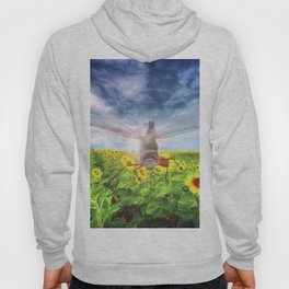 DragonFly Over Sunflowers Hoody