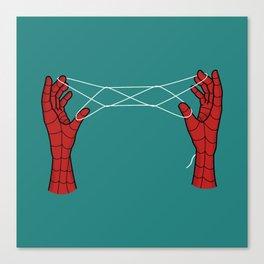 spidey hand trick Canvas Print