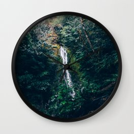 Madison Falls - Olympic National Park Wall Clock