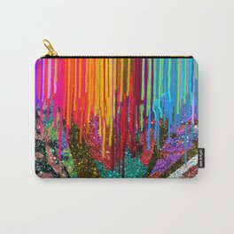 Peacock Mermaid SUNSET Abstract Geometric Carry-All Pouch