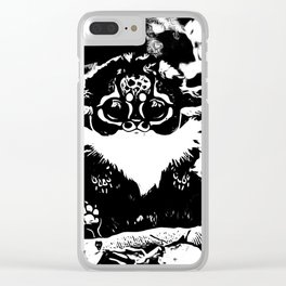 Primate Models: Madagascar, Southeast Africa Monkey 01-01 Clear iPhone Case