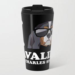 I Love Cavalier King Charles Spaniel modern v2 Metal Travel Mug