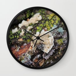 Fungus on a Log Wall Clock