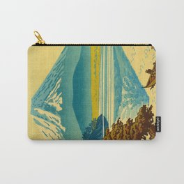 Japanese Woodblock Print Vintage Asian Art Colorful woodblock prints Mount Fuji Carry-All Pouch