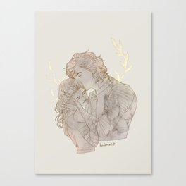 angelic eyes, unearthly lips Canvas Print