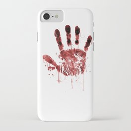 Zombie Handprint iPhone Case