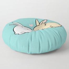 Bunny Kisses Floor Pillow