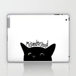 Black Cat Misunderstood Laptop & iPad Skin