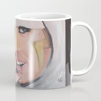 poker Mugs featuring Poker Face by LilKure