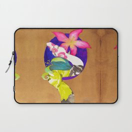 Albino Boa Constrictor with lillies Laptop Sleeve