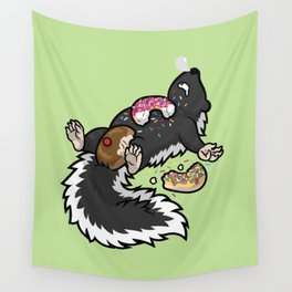 Skunk Funk Donuts Only Wall Tapestry