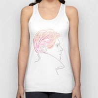 bowie Tank Tops featuring Bowie by Bruno Gabrielli
