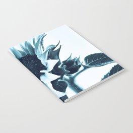 Pastel Blue Sunflower Notebook