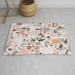 Neutral Terrazzo / Earth Tone Abstraction Rug