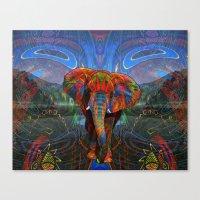 elephant Canvas Prints featuring Elephant by Waelad Akadan