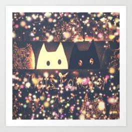 gorgeous cats 7 Art Print