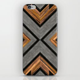 Urban Tribal Pattern 2 - Concrete and Wood iPhone Skin