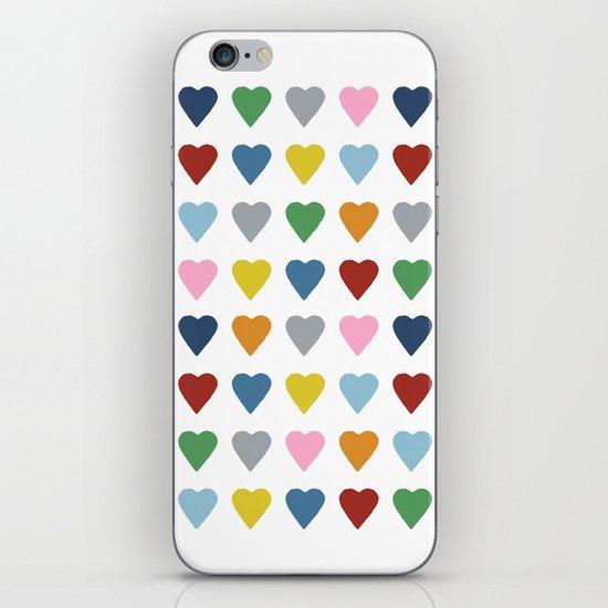 64 Hearts iPhone & iPod Skin