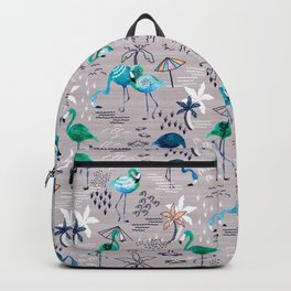 Frolicking Flamingos Backpack