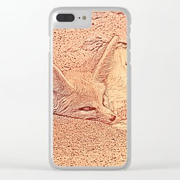Sketchy Fennec Fox Clear iPhone Case